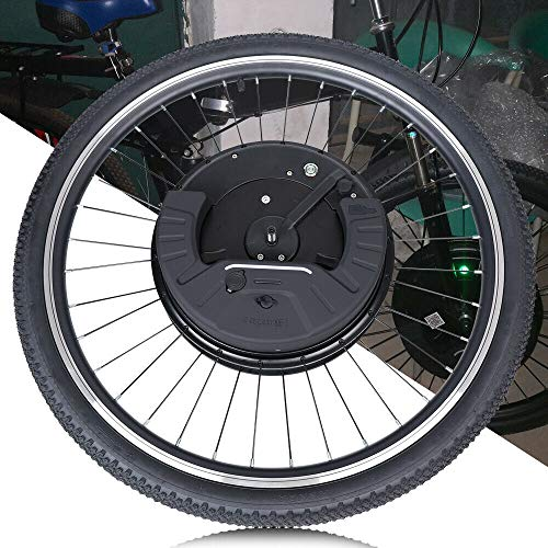 TFCFL Bicycle Motor Conversion Kit, 26-inch 36V Electric Bicycle Front Wheel Conversion Kit E-Bike Front Wheel Motor with Battery