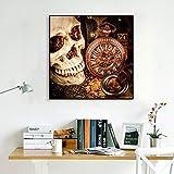 Puzzle 1000 piezas Pintura vintage reloj de calavera cuadro de arte pintura de halloween en Juguetes y juegos Juego de habilidad para toda la familia, colorido juego de ubicac50x75cm(20x30inch)