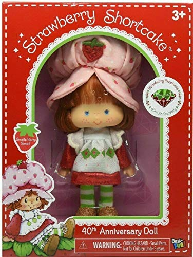 Big Game Toys~Classic 1980s Strawberry Shortcake Retro 40th (Diamond) Anniversary Berry Scented Doll Box with BGT Backpack Storage Bag