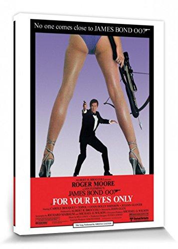 1art1 James Bond 007 - Solo per I Tuoi Occhi Stampa su Tela (80 x 60cm)