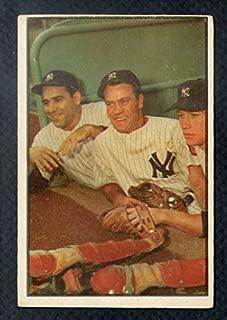 1953 Bowman #44 Mickey Mantle Yogi Berra VG-EX 348184 Kit Young Cards