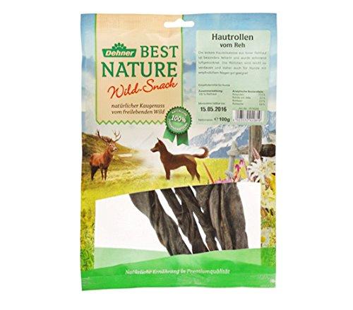 Dehner Best Nature Hundesnack, Hautröllchen vom Reh, 100 g