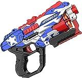 Wuqiqi-yeyi Pistola de Juguete Blaster, Pistola de Juguete, con 20 Dardos de Espuma Suave, Objetivo de Tiro competitivo portátil para niños, Regalos de cumpleaños, Regalos de Fiesta, Juguetes de Mano