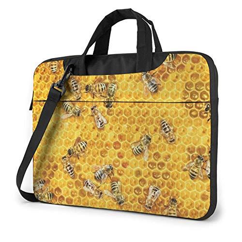 15.6 inch Laptop Shoulder Briefcase Messenger Bees Honey Tablet Bussiness Carrying Handbag Case Sleeve