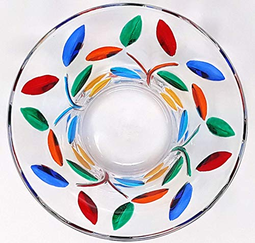 Murano Glass Tree Of Life Candy Bowl, Authentic Hand Painted Italian Glass