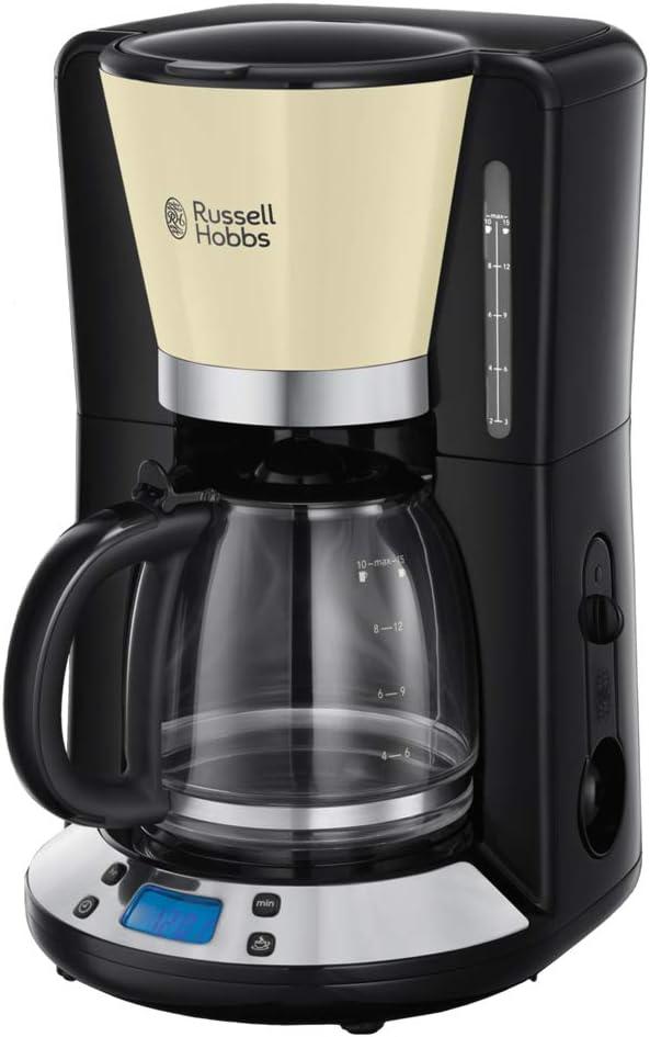 Russell Hobbs 24033-56 Colours Plus - Cafetera de Goteo, Jarra Cafetera para 15 Tazas, 1000 W, Crema