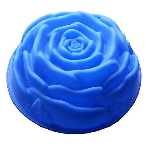 Qingsun Moule à Gâteau ou à Biscuit ou à Chocolat en Silicone sous Forme de Grande Rose