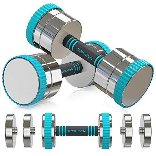KOOLSEN Adjustable Dumbbells Weight Set 22lbs Single Adjustable Dumbbell Pair for Men and Women with AntiSlip Handle AllPurpose Home Gym Office Workout Fitness 44 lbs 22lbs x 2