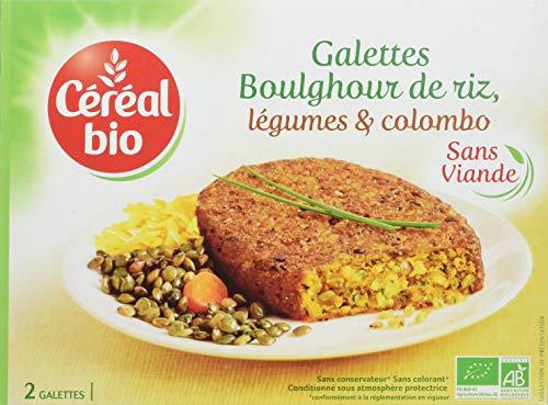 Céréal Bio galettes Riz Légumes Colombo, Les 2 Galettes de 100g