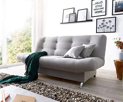 DELIFE Schlafcouch Viol Grau 190x90 cm mit Bettkasten und Schlaffunktion Schlafsofa