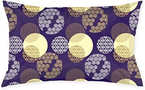 Just life Patrones de la Cultura Japonesa púrpura Lumbar Pequeño Cojín Decorativo Cojín Cojín Cojín Cojín Serie Living Diseño Lateral Decorativo 29.9'X 19.6'
