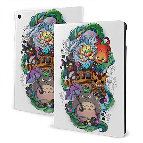 Tattoo My Neighbour Totoro Spirited Away Case Fit iPad 7 th 10.2 Inch Case with Auto Sleep/Wake Ultra Slim Lightweight Stand Leather Case