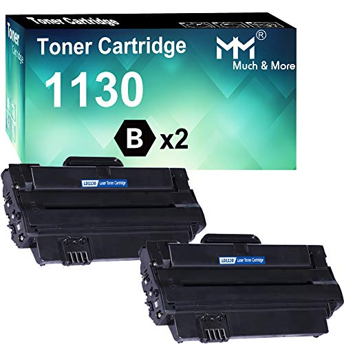 MM MUCH & MORE Compatible Toner Cartridge Replacement for DELL 1130 330-9523 7H53W to Used for DELL 1130 1130n 1133 1135n Printers (Black, 2 Pack)