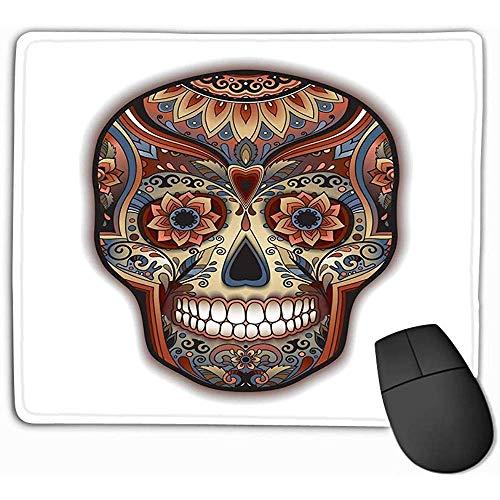 Mouse pad stampa messicano tradizionale cranio ornamento floreale Mousepad 25 * 30 cm