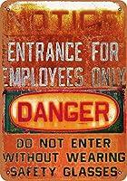 従業員専用の通知 金属板ブリキ看板警告サイン注意サイン表示パネル情報サイン金属安全サイン