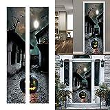 2 unids/set horrible Halloween puerta pegatinas desprendible 3D calabaza pared mural calcomanía decorar el hogar