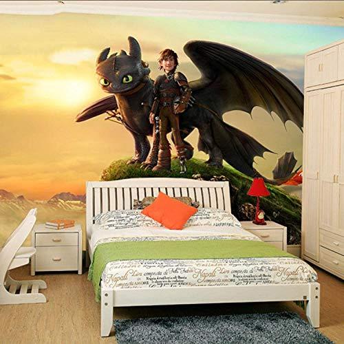 YIERLIFE 3D Wandbilder Selbstklebend Kinderzimmer - Cartoon Held Charakter - Fototapete Wandbild, 3D Bild Poster Aufkleber Hintergrund Wandbilder Wohnzimmer Tv Sofa Hintergrund Wandpapier Für Wände Fr