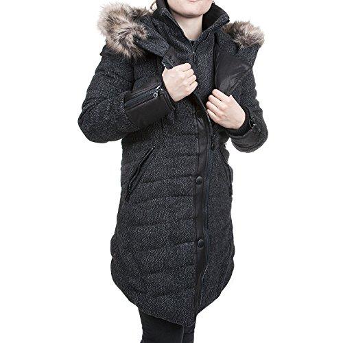 Khujo Albia 1751JK163 Damen Winterjacke Jacke Parka, E10 black grey fishbone, S