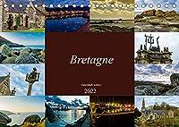 Bretagne - traumhaft schoen! (Tischkalender 2022 DIN A5 quer): Eine fotografische Rundreise durch die Region Bretagne (Monatskalender, 14 Seiten )