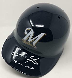 Christian Yelich Milwaukee Brewers Signed Autograph Full Size Authentic NL MVP Inscribed Helmet Steiner Sports Certified