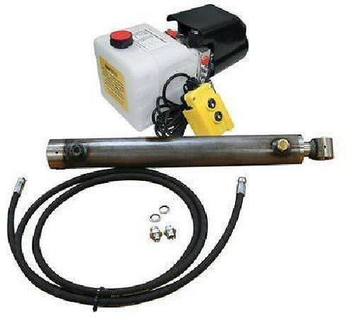 baratos y buenos FlowFit 12VDC Kit de remolque de control de inundación de acción simple para carrera de 2.5 toneladas, carrera de cilindro de 400 mm calidad