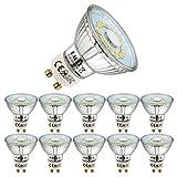 EACLL Bombillas LED GU10 4000K Blanco Neutro 5W Fuente de Luz 495 Lúmenes Equivalente 50W Halógena. AC 230V Sin Parpadeo Focos, 120 ° Spotlight, Blanca Neutra natural Lámpara Reflectoras, 10 Pack