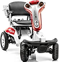 Tzora Titan 4-Wheel Electric Mobility Travel Large Scooter Red