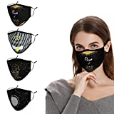 Graduation Face Mask Decoration, Class of 2021 Cloth Designer Reusable White Women Men Facemask with Nose Wire Adjustable Earloop Breathable Washable Cotton Madks, Carnival Facecover Gift for Him Her