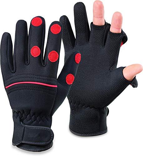 2 Paar Herren Damen Handschuhe Angler-Jäger Für Winterfischen im Freien,