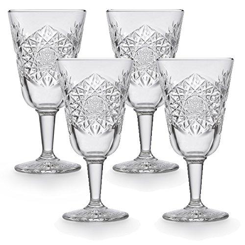 Libbey - Weinglas, Rotweinglas, Weißweinglas - Hobstar - 4 Stück - Wine - Kristallglas - 300ml