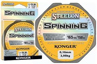 Konger STEELON - Hilo de Pesca (fluorocarbono, 0,12-0,30 mm/150 m, monofilamento)