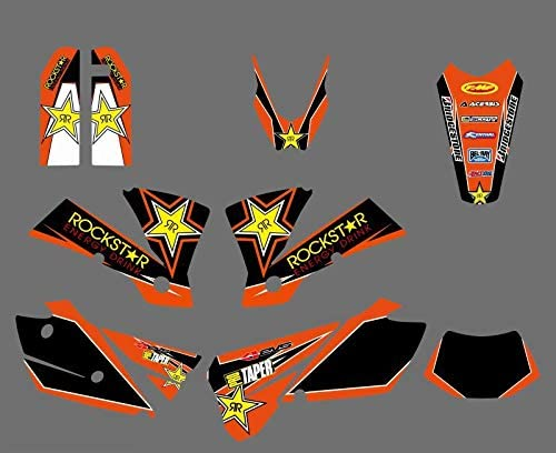 0430 Star Team Manufacturer direct delivery Graphics Backgrounds Decals for Time sale KTM EXC 200 125