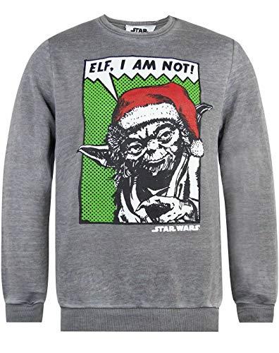 Star Wars Yoda Elf, io Non Sono Burnout Gli Uomini di Gray Natale Jumper