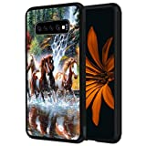 Galaxy S10E Case,Galaxy S10 Lite Case,Vobber Shockproof Architecture Hard Shell TPU Protective Case Cover for Samsung Galaxy S10E (2019),Running Horses