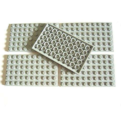 LEGO CITY - 5 Bauplatten Platten mit 6x10 NOPPEN im neuen hellgrau