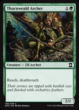 Magic The Gathering - Thornweald Archer (189/249) - Eternal Masters