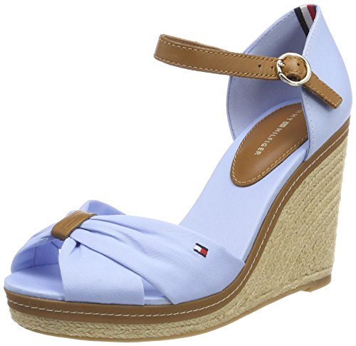 Tommy Hilfiger Damen Iconic Elena Sandal Espadrilles, Blau (Chambray Blue 407), 41 EU