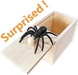 AHZI Fun Spider Money Surprise Box,Rubber Spider Prank Box,Handcrafted Spider in Box Prank