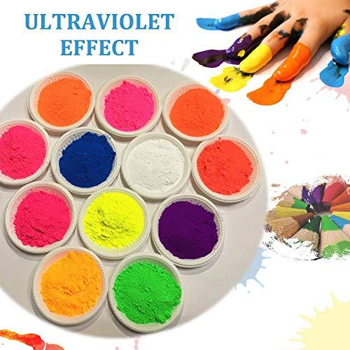 Fluorescerende poeder fosforachtige lichtgevende fluorescerende poeder gloed in donkere 8 kleuren voor nageldecoraties nagel kunst, schilderen, slijm, nagels, hars, gloeipartij, graffiti of doe-het-zelf ambachten - 50g/pc