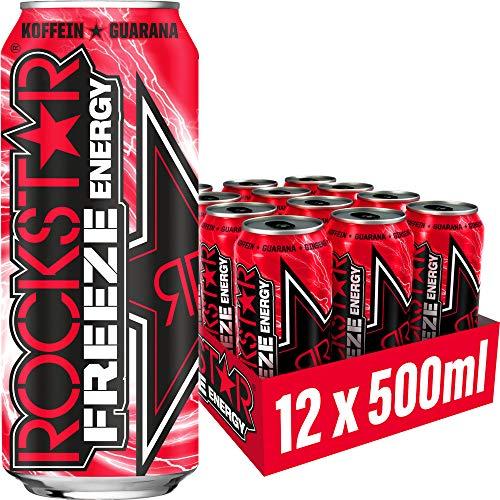 Rockstar Energy Drink Freeze Watermelon - Koffeinhaltiges Erfrischungsgetränk für den Energie Kick, EINWEG (12x 500ml)
