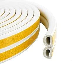 VOLO Soundproofing, Dust Proof Door/Window Self Adhesive Door Seal Strip 6 Meters, D Seal (D Shape)_White