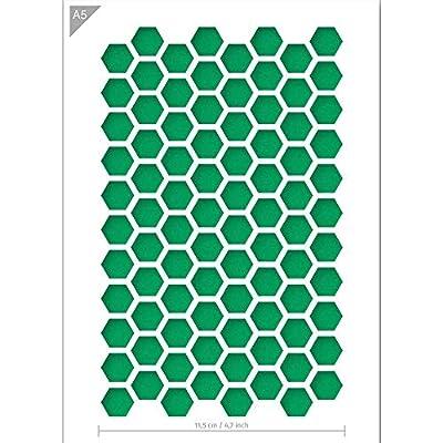 Hexagon STENCIL Pattern Reusable Template Card Making Wall Furniture Craft TE503