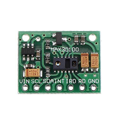 Módulo electrónico Módulo de sensor de ritmo cardíaco Sensor HeartBeat Sensor Oximetría Pulso Oxímetro Ultra-Bajo Consumo de energía para MAX30100 Equipo electrónico de alta precisión