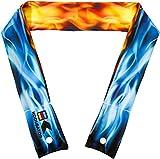 KOOLGATOR Cooling Neck Wrap - Blue & Red Flames Design