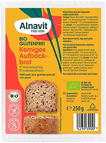Alnavit Bio Kerniges Aufbackbrot glutenfrei 250g