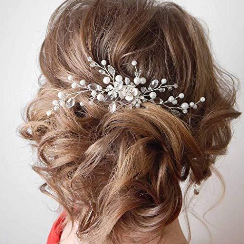 IYOU Horquillas para el cabello con flores de novia pinzas para el...