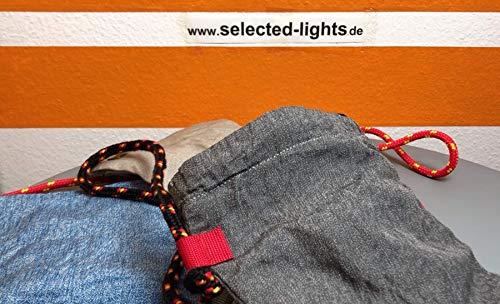 loctote AntiTheft Sack 3 Liter -modifiziert- kleine schnittfeste Diebstahl Schutz Tasche mit Schloss, Farbe:Khaki
