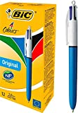 BIC 4-Color Ballpoint Pen, Medium Point (1.0mm), Assorted Inks, 12-Count