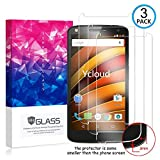 Ycloud [3 Pack] Protection écran pour Motorola Moto X Force, [9H Hardness, Anti-Rayures] Verre...