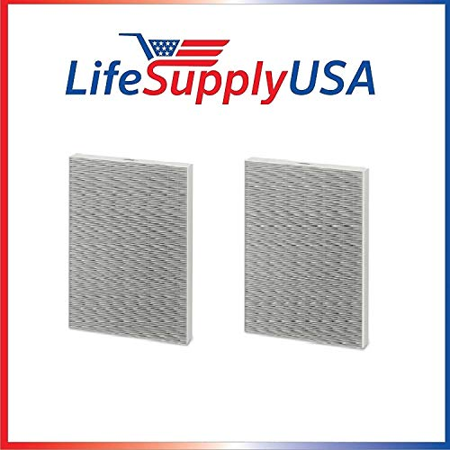 LifeSupplyUSA 2 Pack Replacement HEPA Filter Compatible with Winix 115115 / PlasmaWave WAC Air Purifiers, Size 21